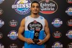 Thomas Tshikaya, Jugador Estrella Galicia del mes de enero en el Ourense Baloncesto