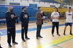 El presidente del Melilla Sport Capital visita el entrenamiento del primer equipo