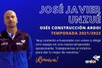 José Javier Unzué seguirá al frente del Osés Ardoi la próxima temporada