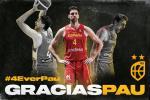 Pau Gasol: 149 partidos oficiales, 2.544 puntos y 14 medallas con la camiseta de España